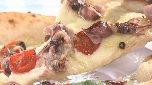 この日はホタルイカを使ったピザを堪能