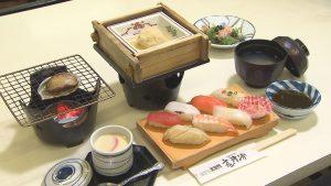 ツアー限定の寿司食べ放題が付いた寿司御膳