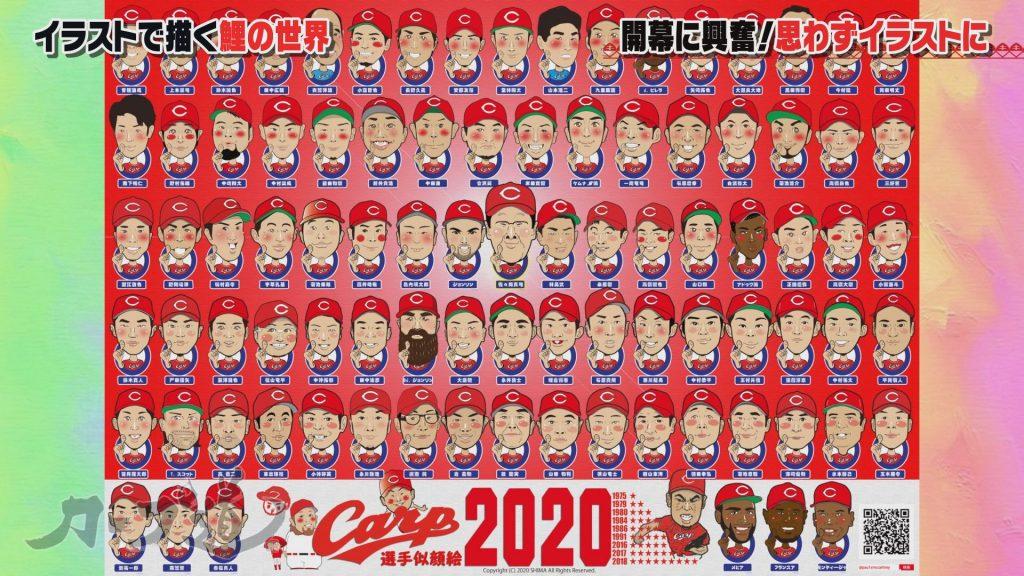 2020年の全選手をポスターとして描く