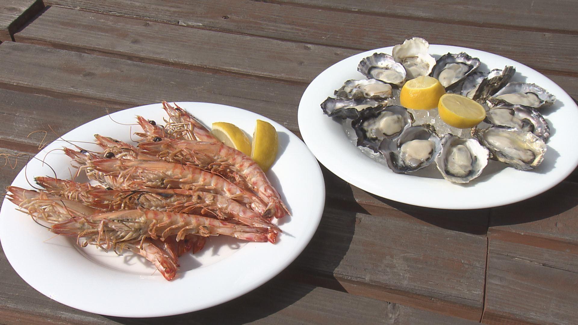 車海老と牡蠣