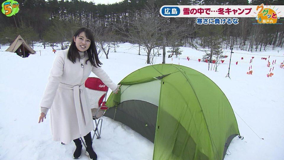 雪の中のキャンプ
