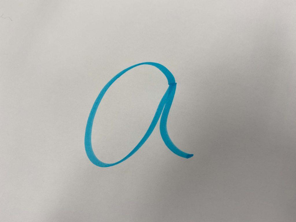アルファベットのa