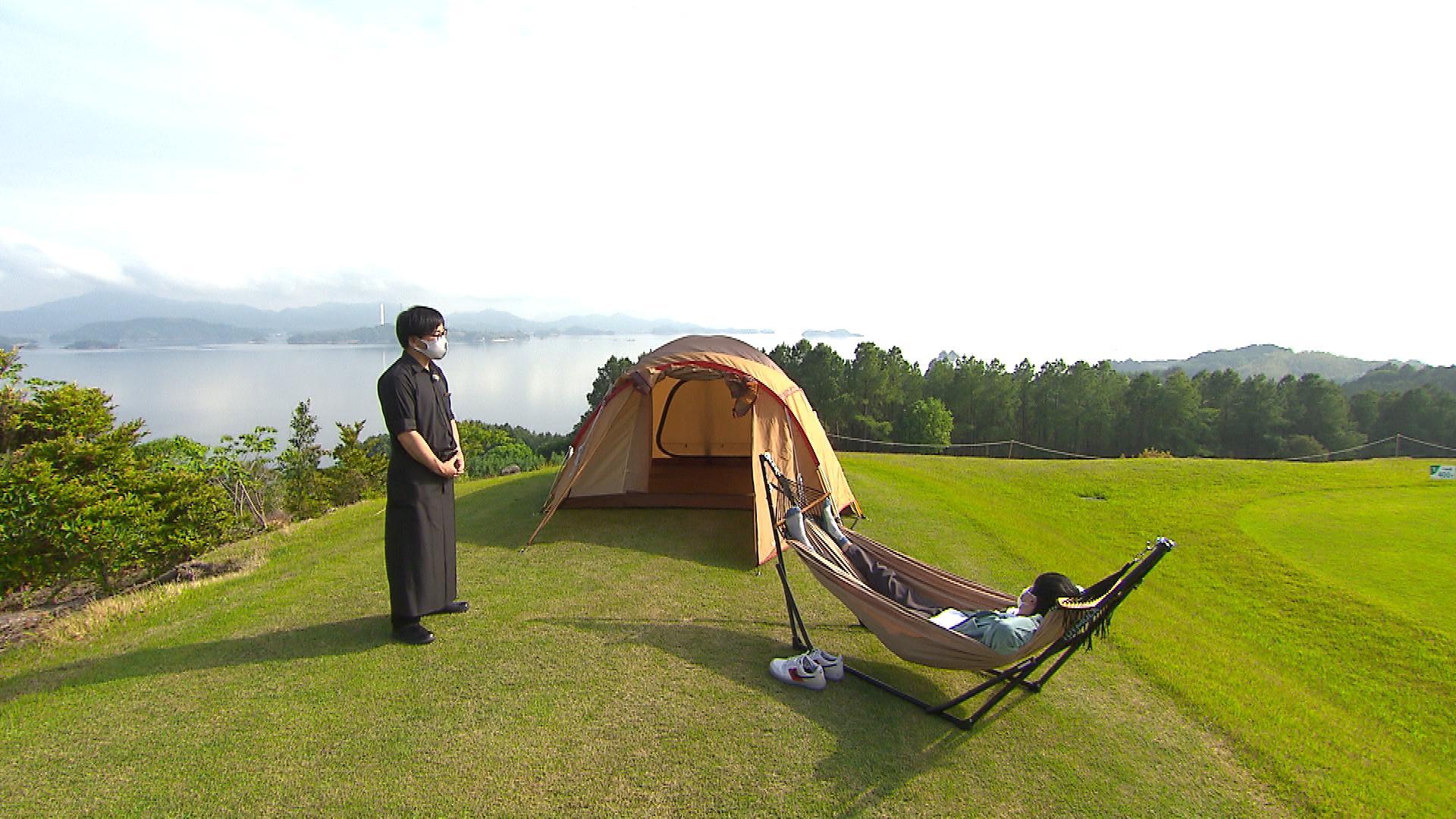 ゴルフ場内にあるキャンプ場