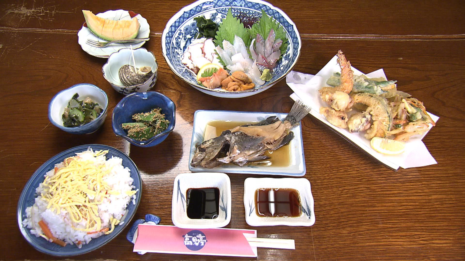 お昼の魚定食