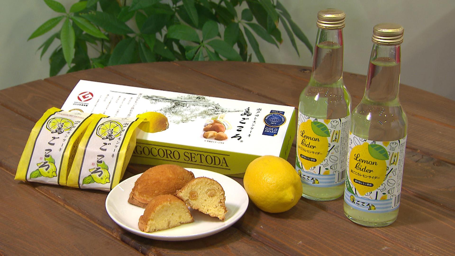 レモンケーキと島ごころサイダー