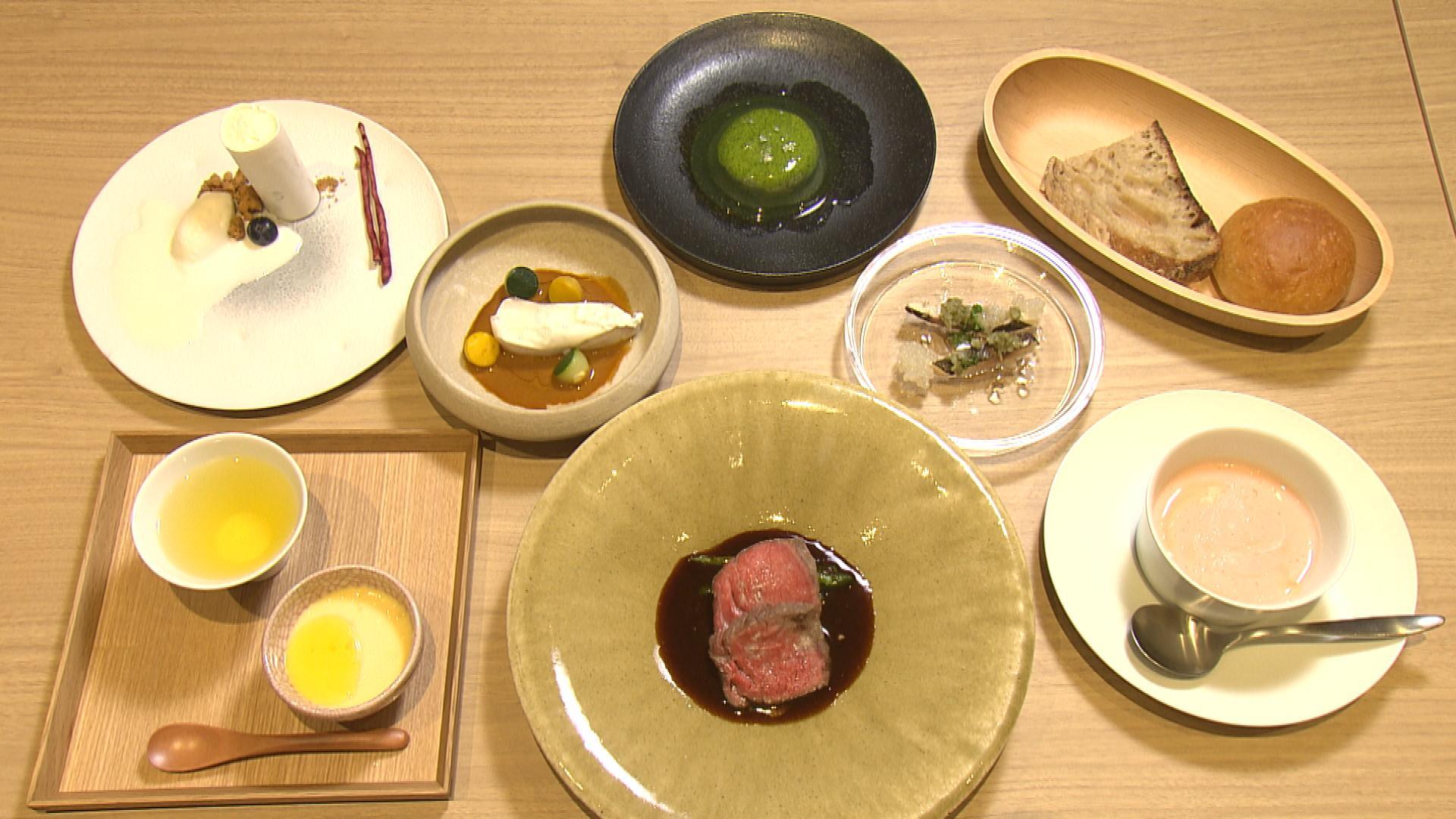 メインの肉料理は、広島産牛肉を使用。