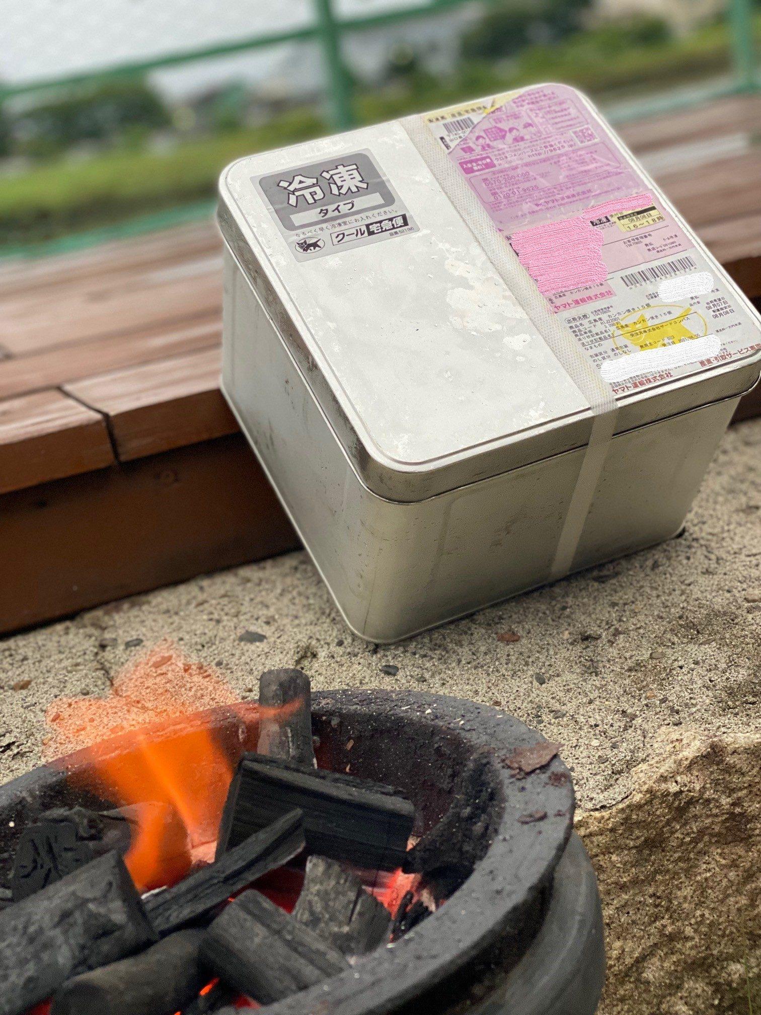 寺本水産さんの「牡蠣のカンカン焼き」