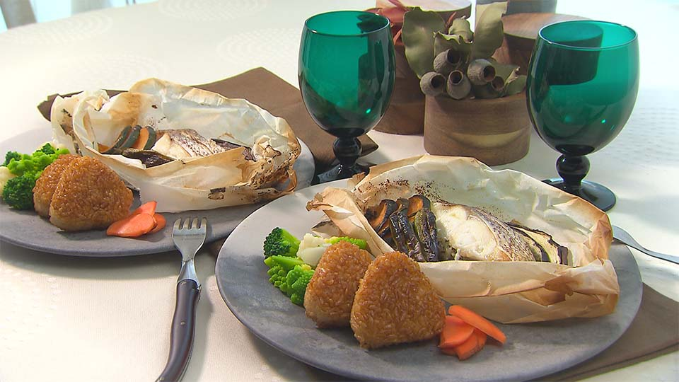 鯛と秋野菜の包み焼き