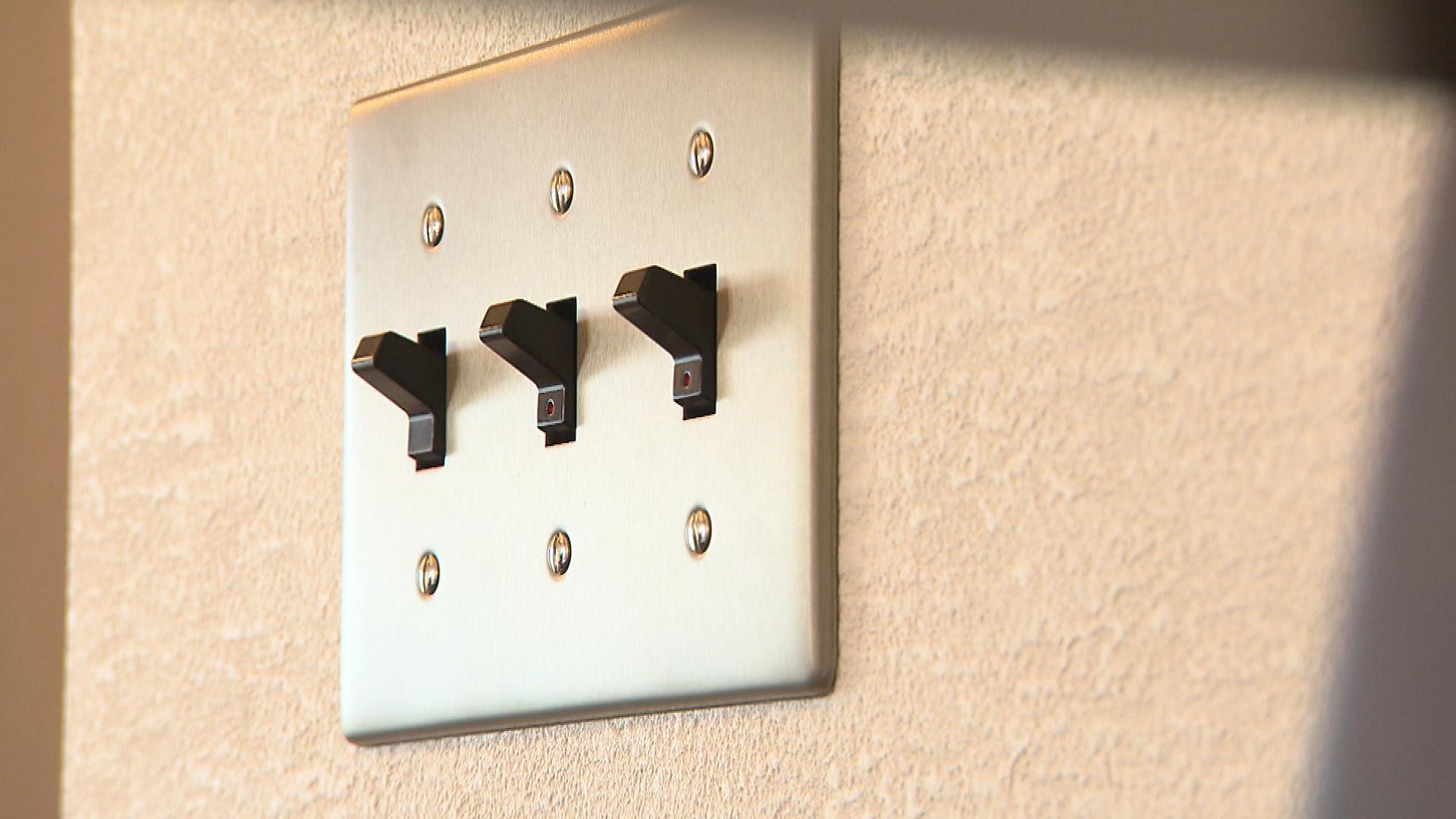 昔ながらの電気のスイッチ