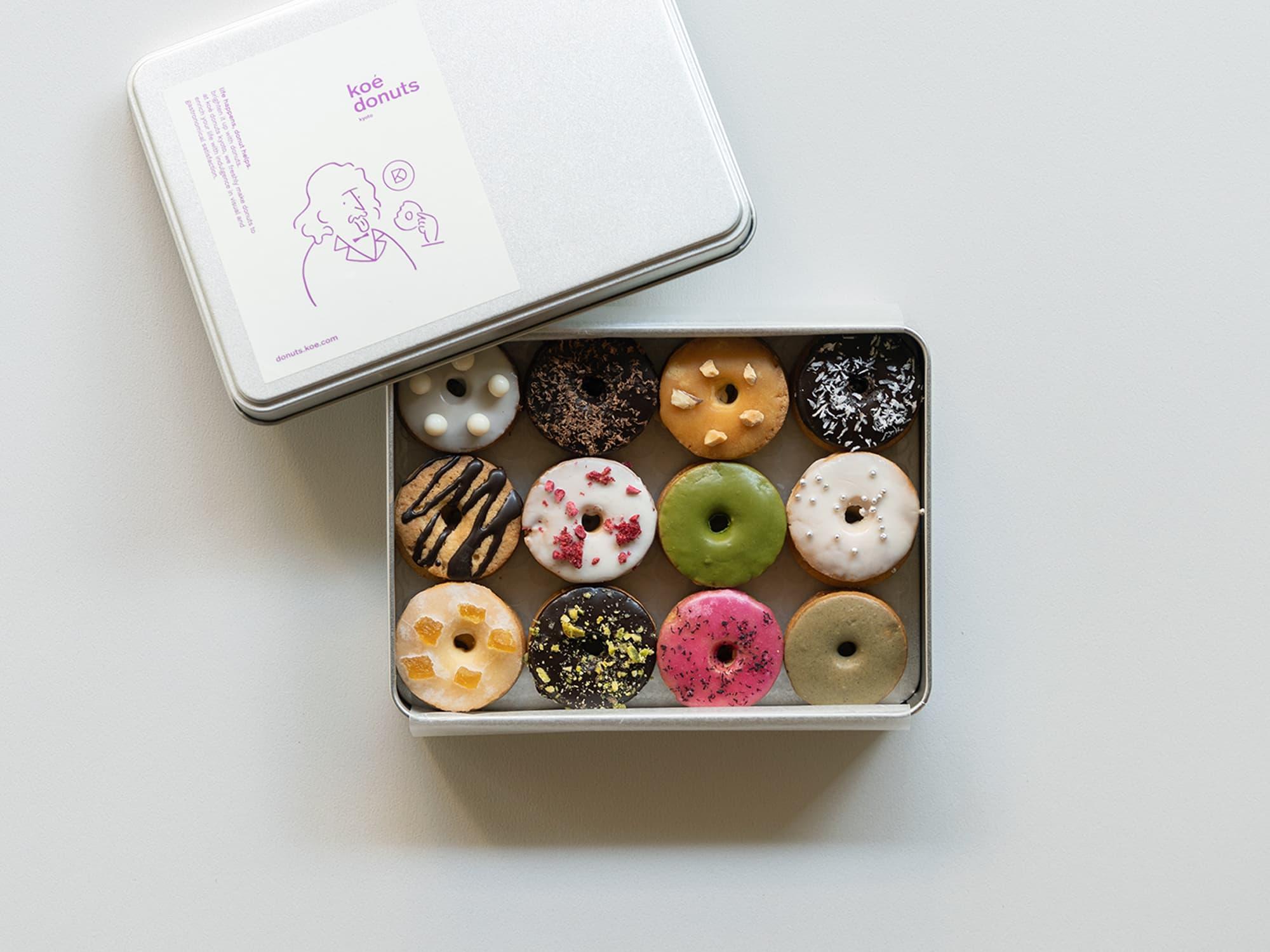 koe donuts クッキー缶 24枚 ¥1,620