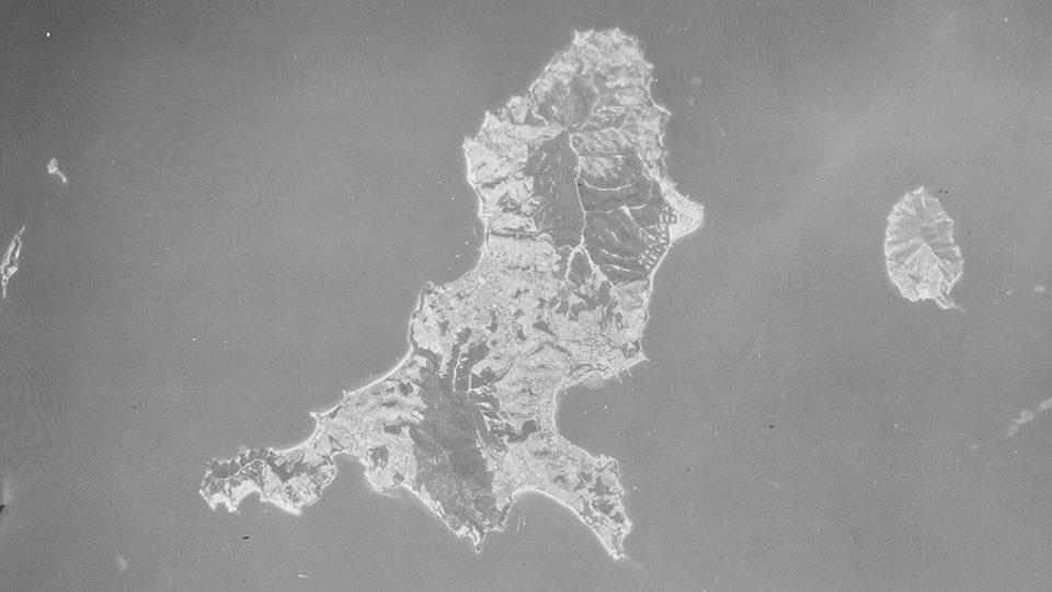 19471008似島全島航空写真(国土地理院/米軍撮影)
