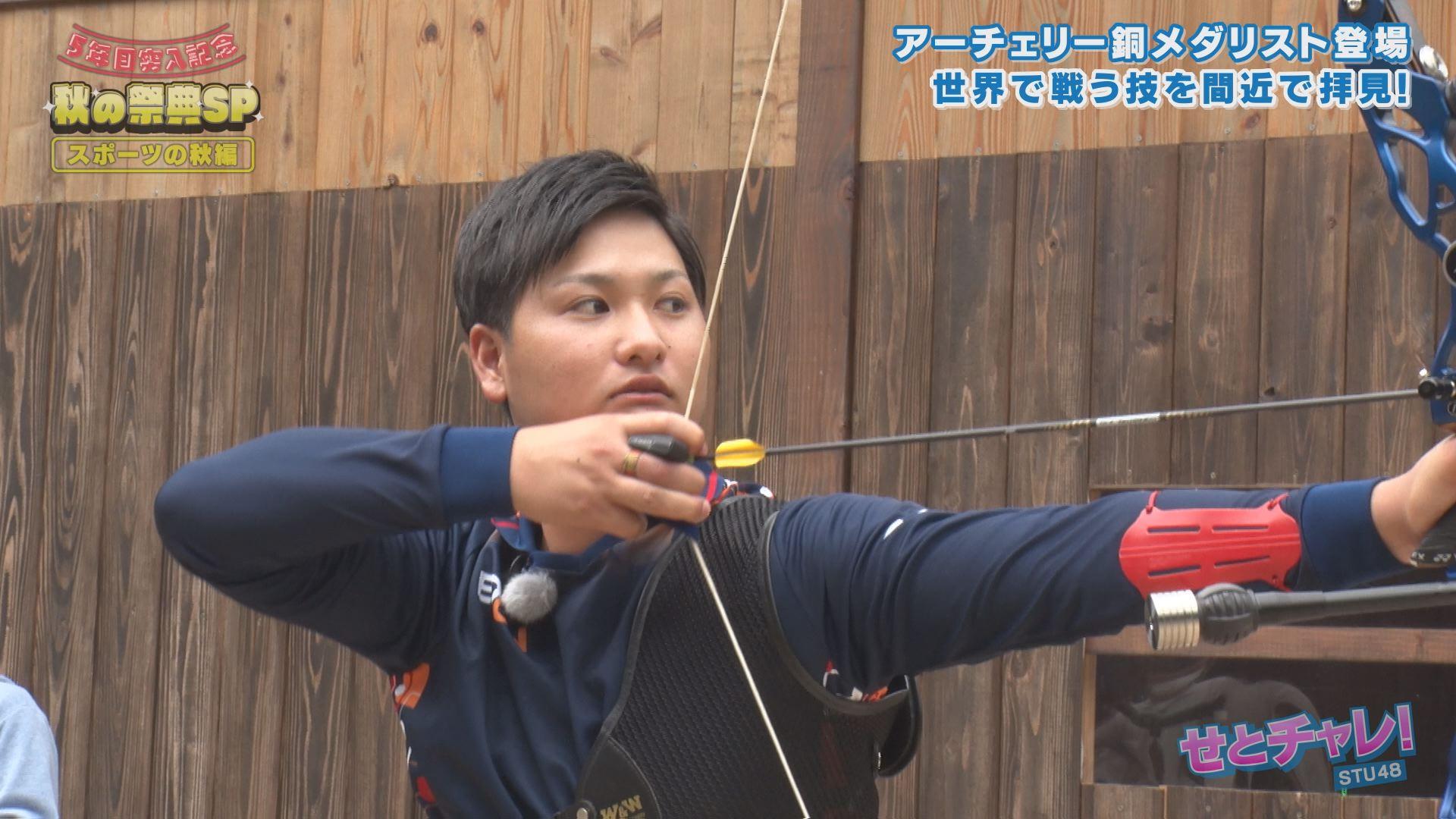 日本中を熱狂させた河田選手の技を披露