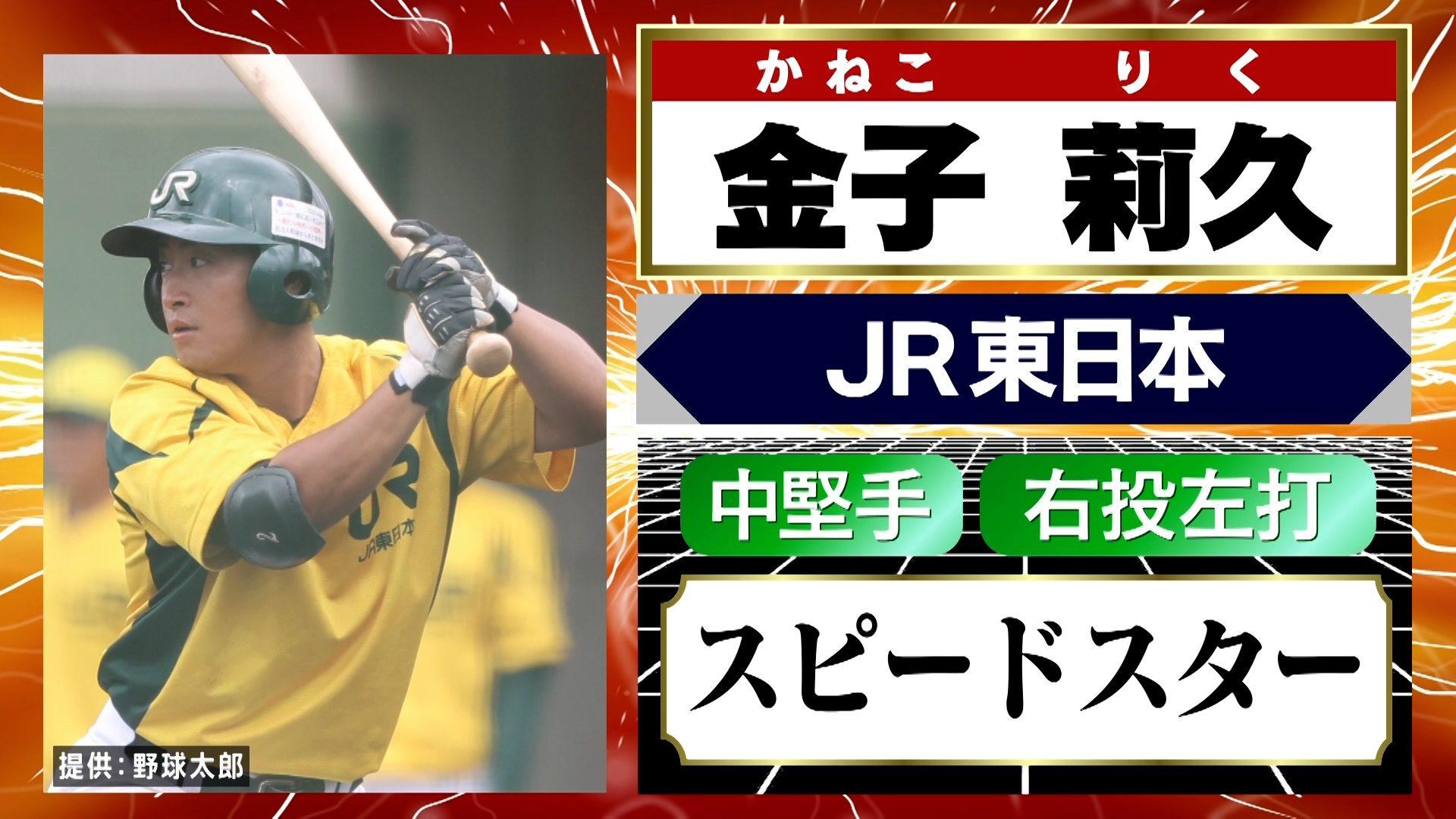 金子莉久選手(JR東日本)