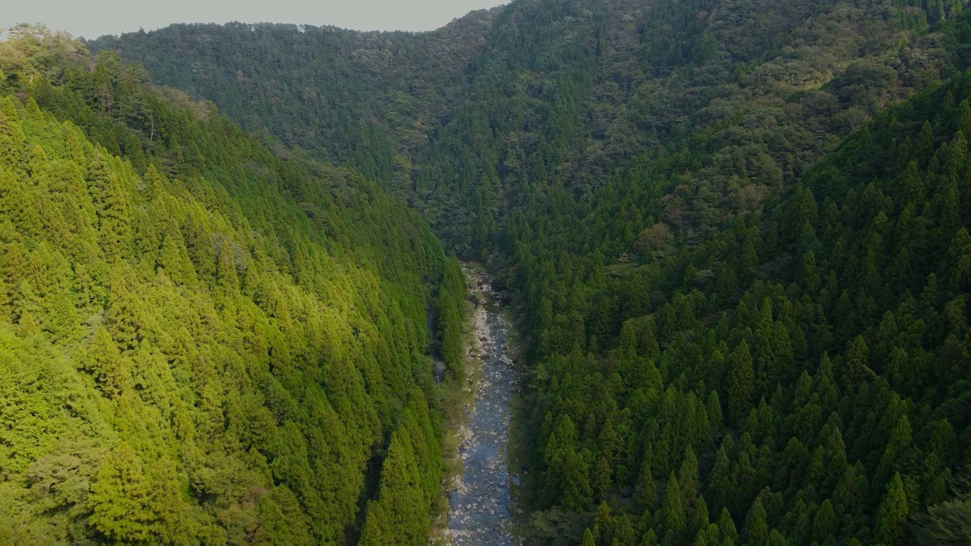 太田川の始まりから瀬戸内海まで103㎞